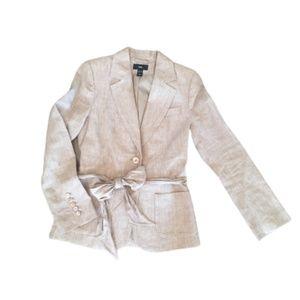 H&M Linen Blazer with Tie Size 6 M